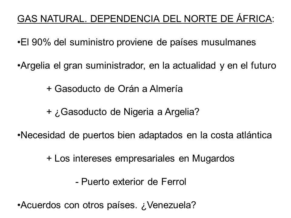 GAS NATURAL. DEPENDENCIA DEL NORTE DE ÁFRICA: