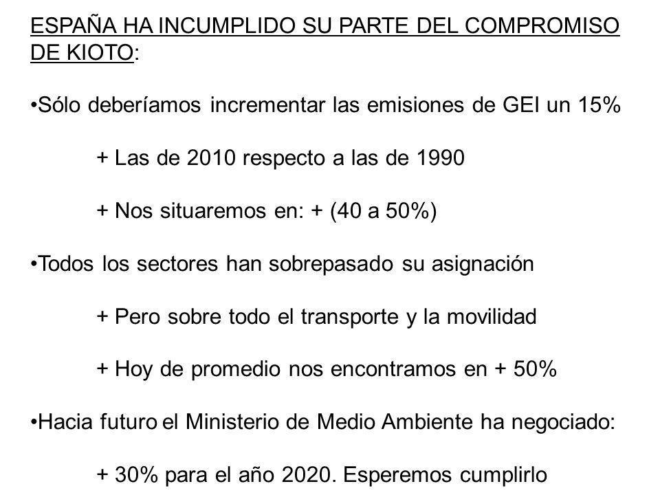 ESPAÑA HA INCUMPLIDO SU PARTE DEL COMPROMISO