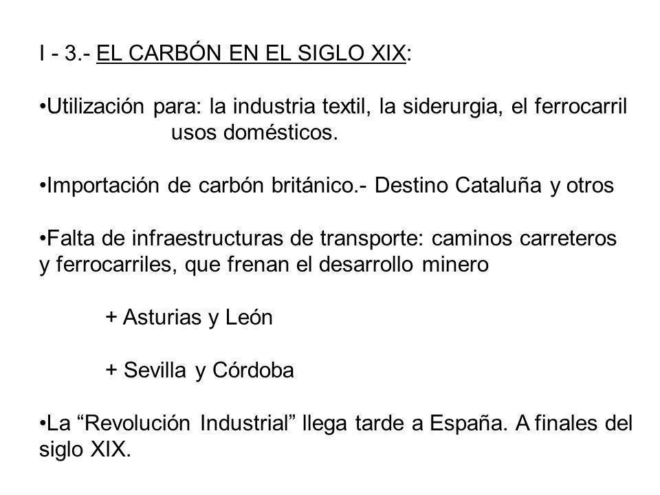 I - 3.- EL CARBÓN EN EL SIGLO XIX: