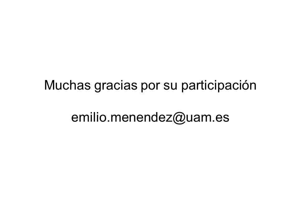 Muchas gracias por su participación