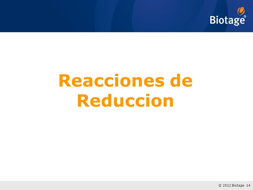 Reacciones de Reduccion
