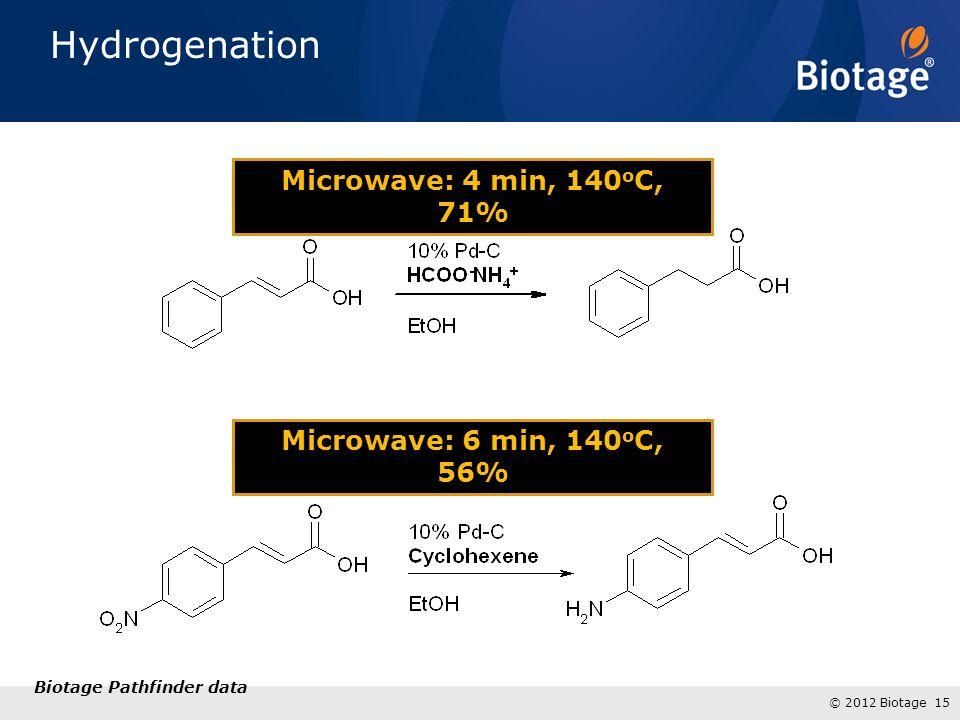 Hydrogenation Microwave: 4 min, 140oC, 71%