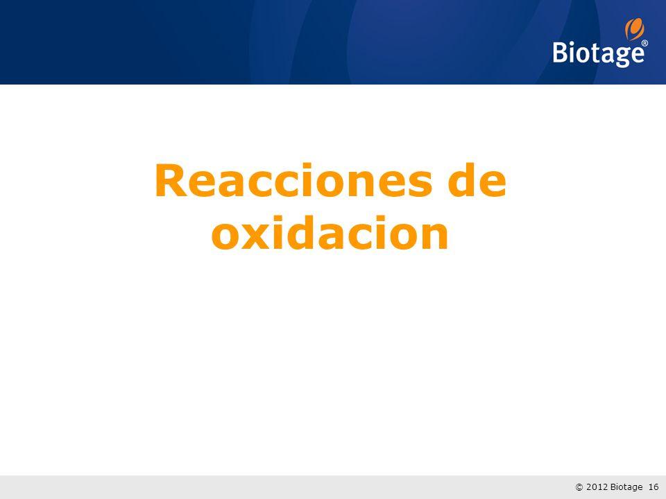 Reacciones de oxidacion