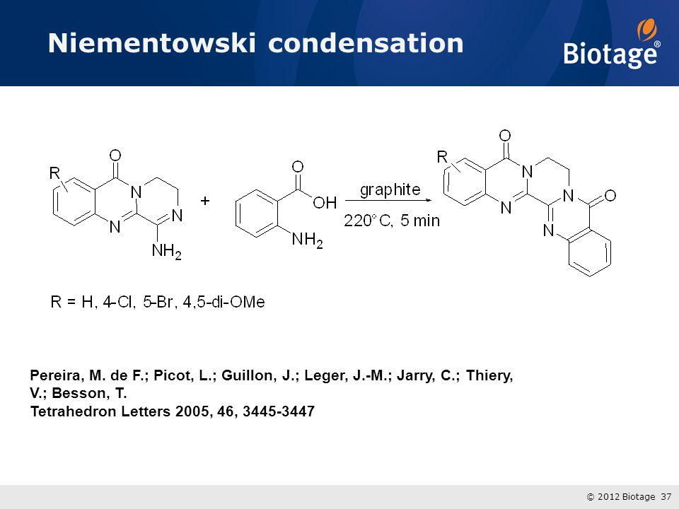 Niementowski condensation