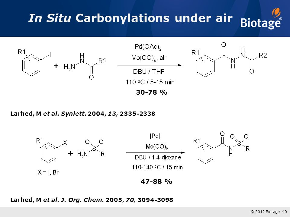 In Situ Carbonylations under air