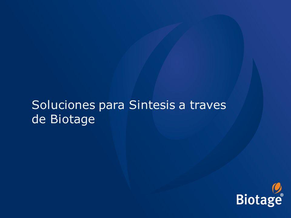Soluciones para Sintesis a traves de Biotage