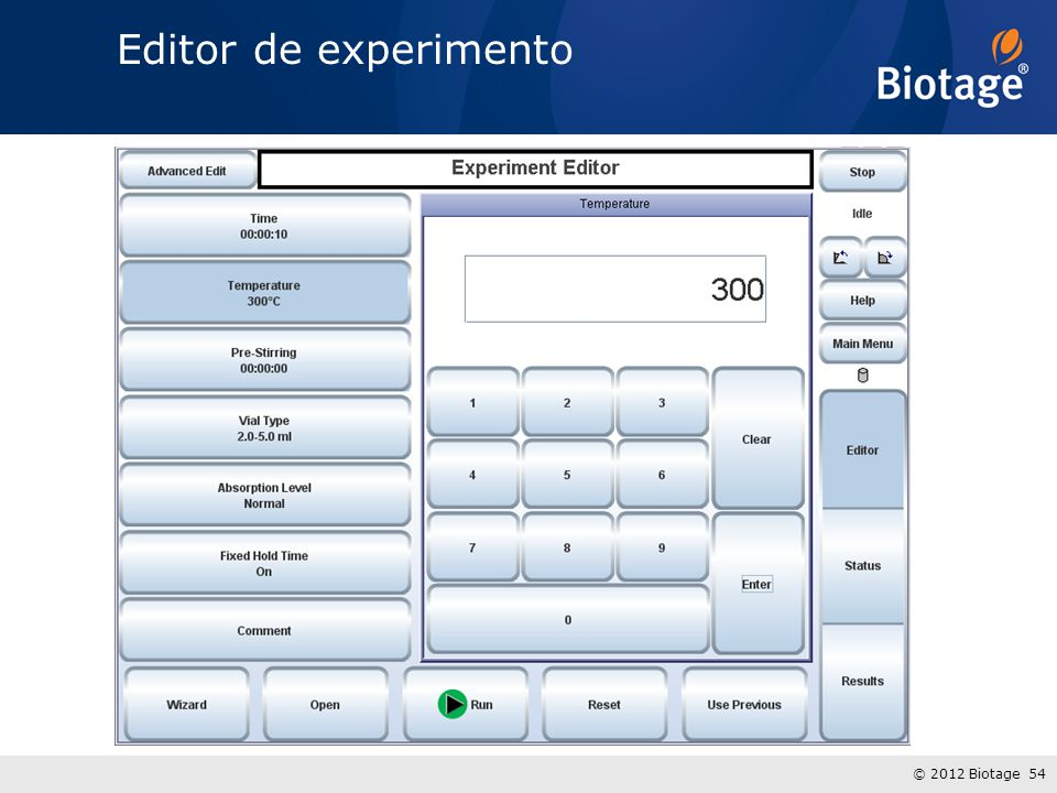 Editor de experimento
