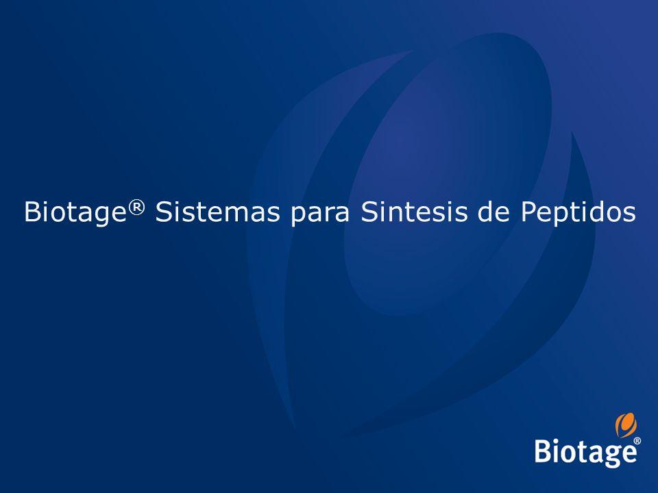 Biotage® Sistemas para Sintesis de Peptidos