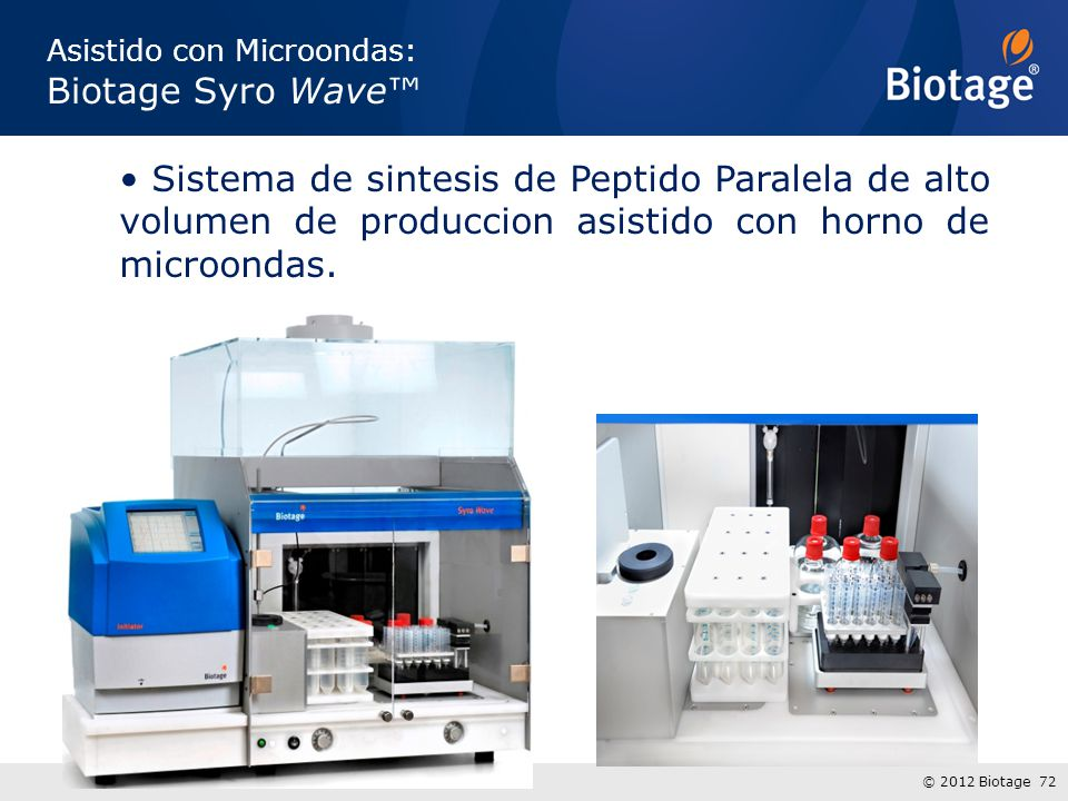 Asistido con Microondas: Biotage Syro Wave™