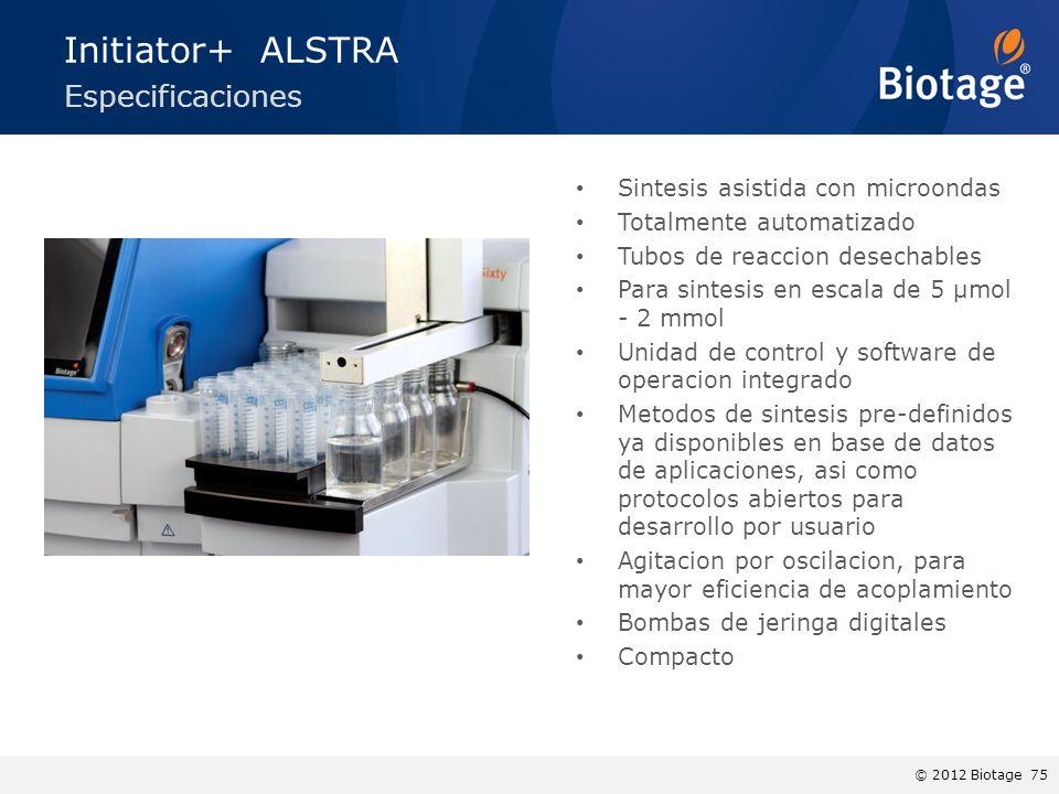 Initiator+ ALSTRA Especificaciones Sintesis asistida con microondas