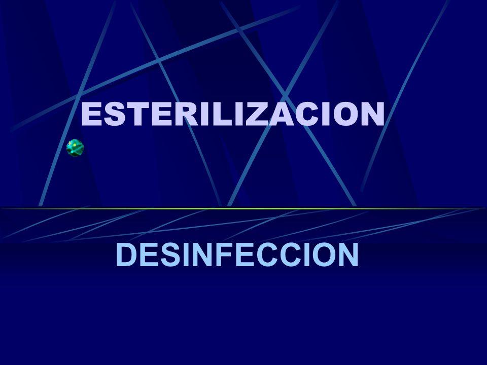 ESTERILIZACION DESINFECCION