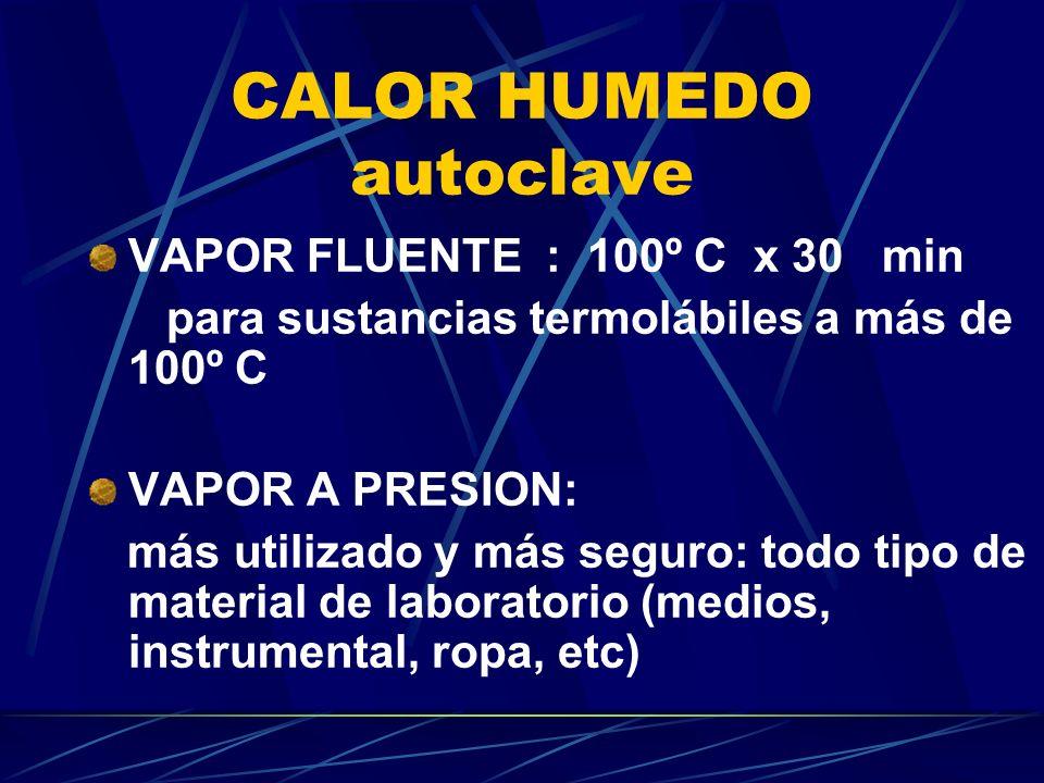 CALOR HUMEDO autoclave