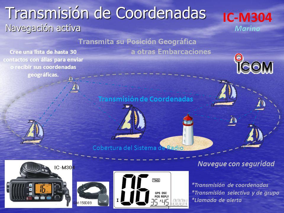 Transmisión de Coordenadas Navegación activa