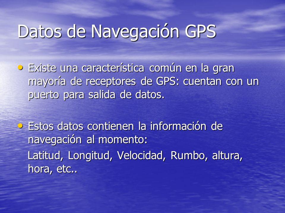 Datos de Navegación GPS