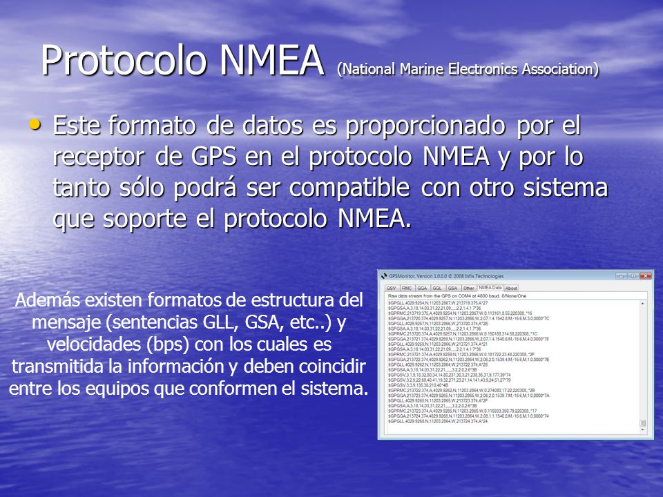 Protocolo NMEA (National Marine Electronics Association)
