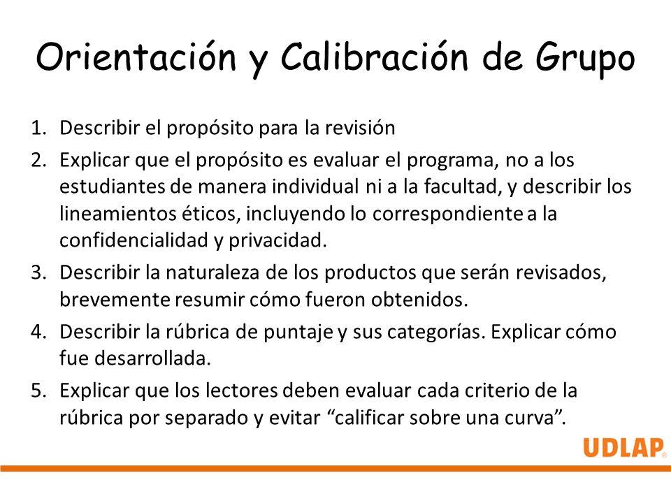 Orientación y Calibración de Grupo