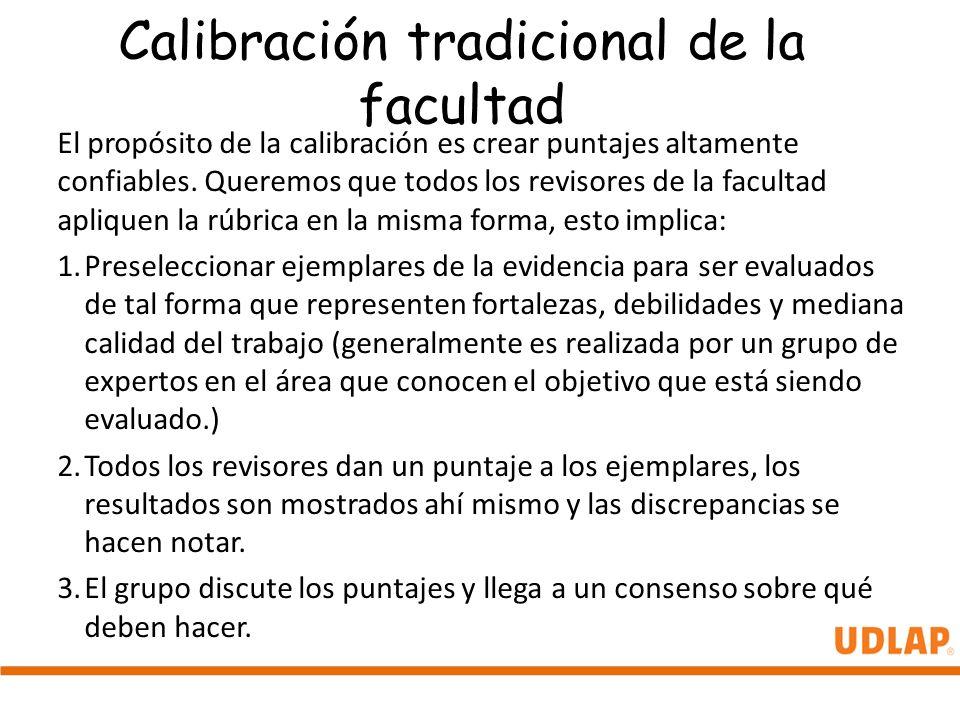 Calibración tradicional de la facultad