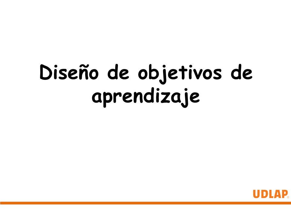 Diseño de objetivos de aprendizaje