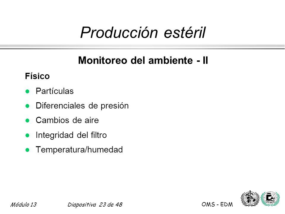 Monitoreo del ambiente - II