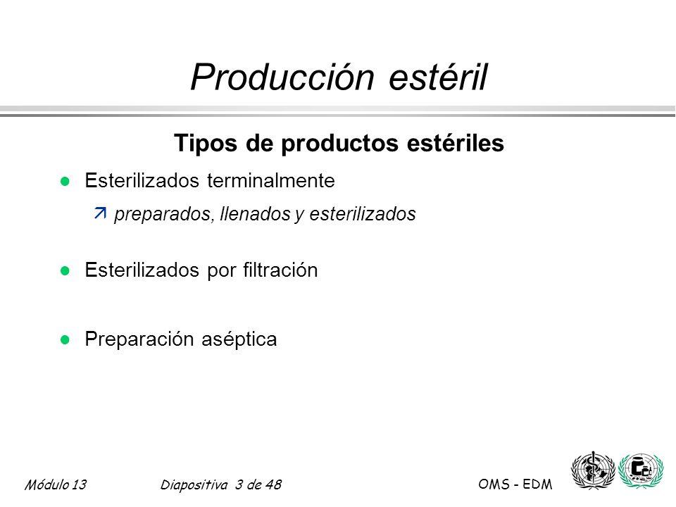 Tipos de productos estériles