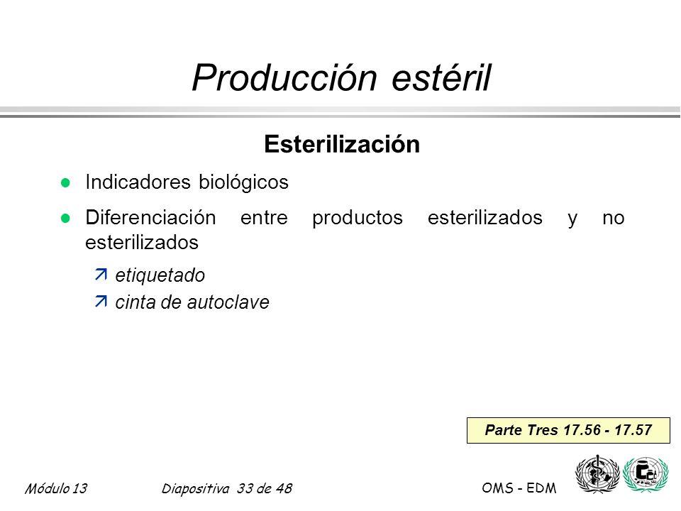 Producción estéril Esterilización Indicadores biológicos