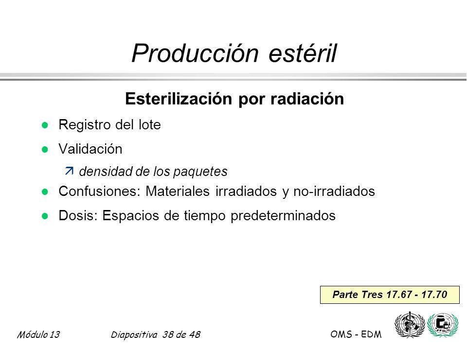 Esterilización por radiación