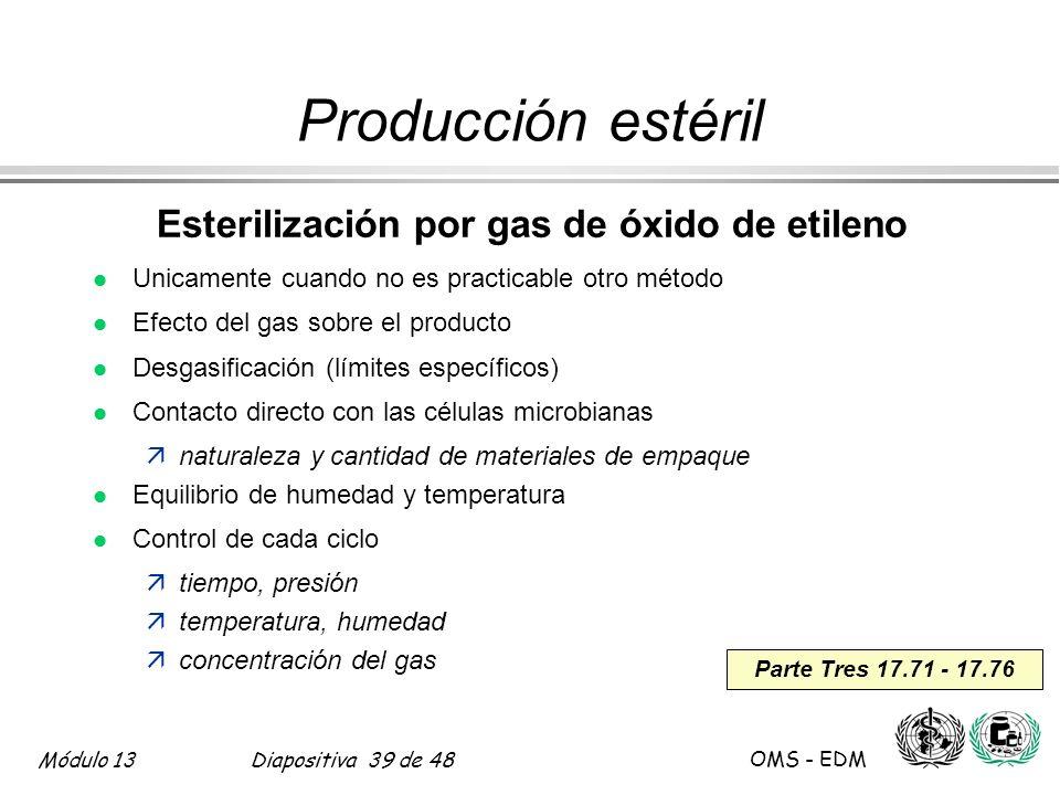 Esterilización por gas de óxido de etileno