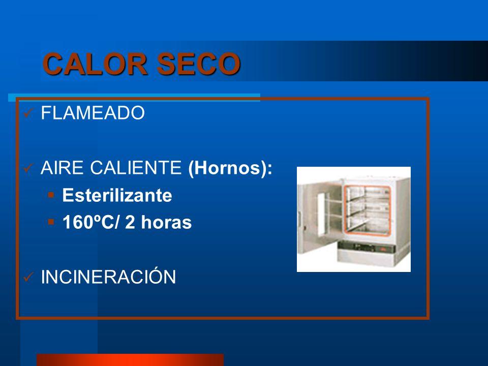 CALOR SECO FLAMEADO AIRE CALIENTE (Hornos): Esterilizante