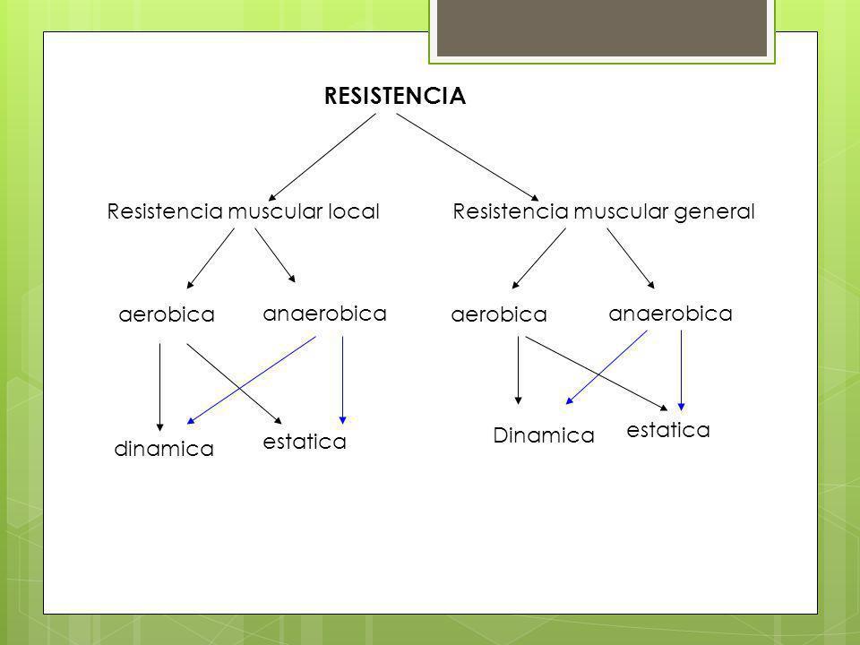 RESISTENCIA Resistencia muscular local Resistencia muscular general