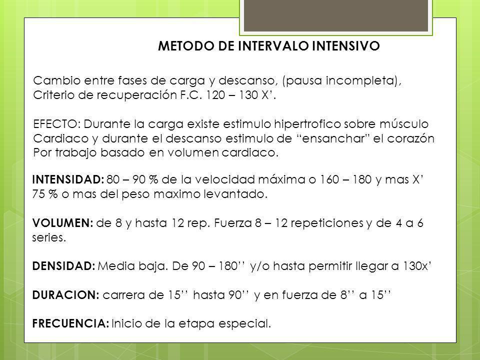 METODO DE INTERVALO INTENSIVO