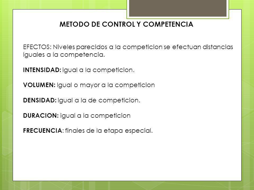 METODO DE CONTROL Y COMPETENCIA