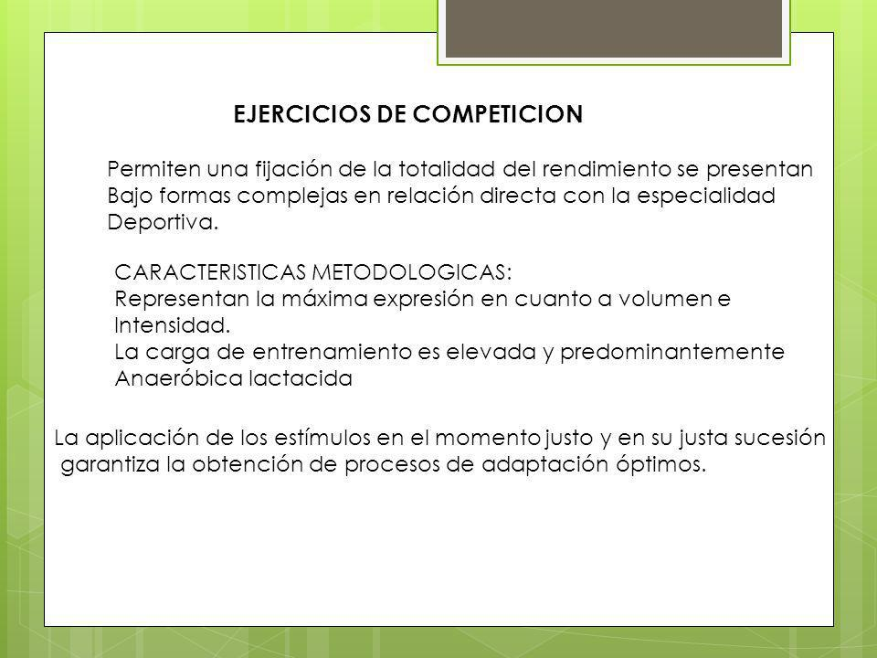 EJERCICIOS DE COMPETICION