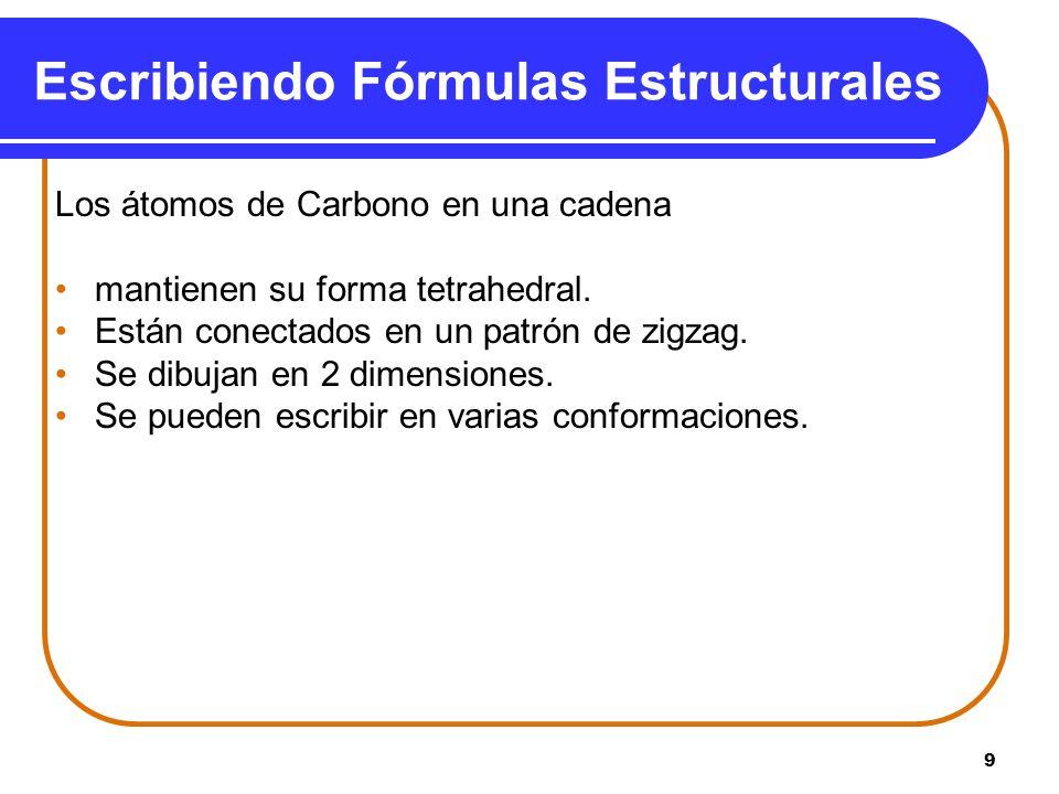 Escribiendo Fórmulas Estructurales