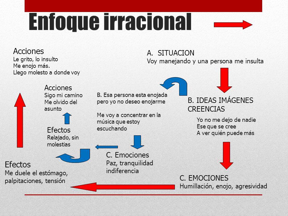 Enfoque irracional Acciones Efectos SITUACION Acciones