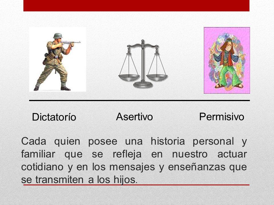 Dictatorío Asertivo. Permisivo.
