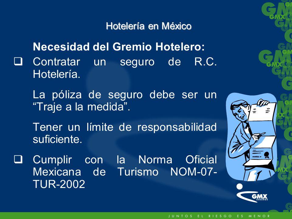 Necesidad del Gremio Hotelero: Contratar un seguro de R.C. Hotelería.