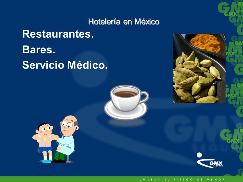 Restaurantes. Bares. Servicio Médico.