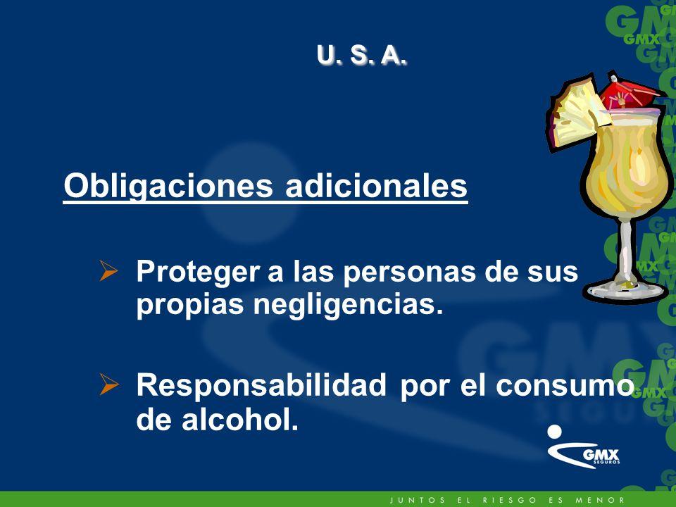 U. S. A. Obligaciones adicionales