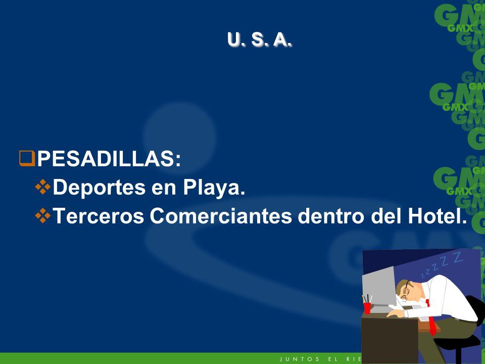 U. S. A. PESADILLAS: Deportes en Playa.