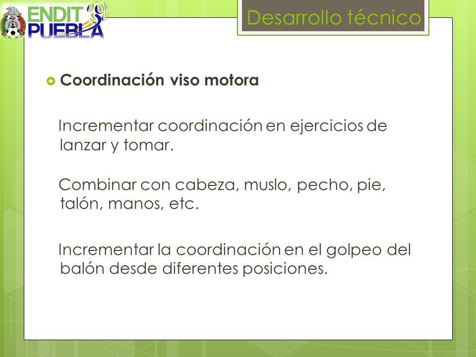 Desarrollo técnico Coordinación viso motora