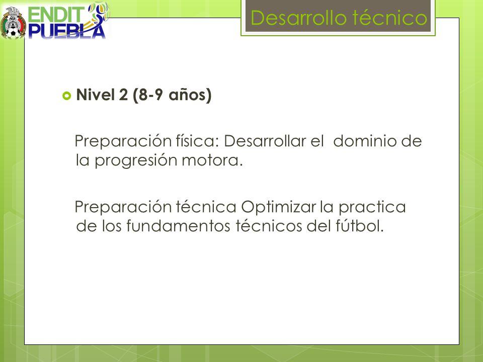 Desarrollo técnico Nivel 2 (8-9 años)