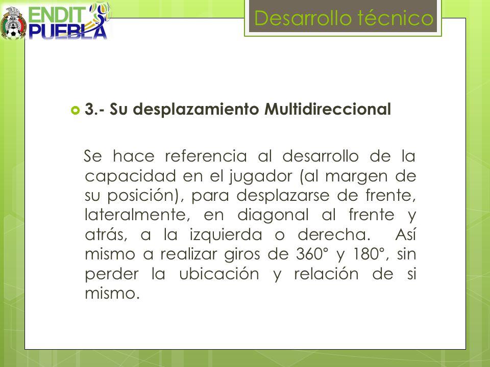 Desarrollo técnico 3.- Su desplazamiento Multidireccional