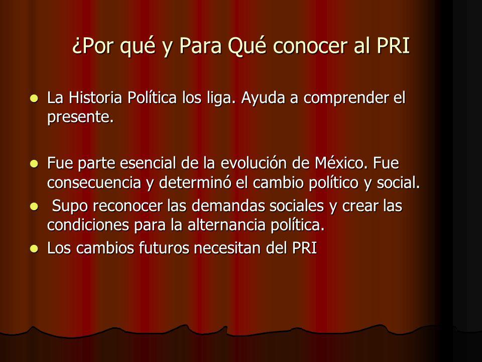 ¿Por qué y Para Qué conocer al PRI