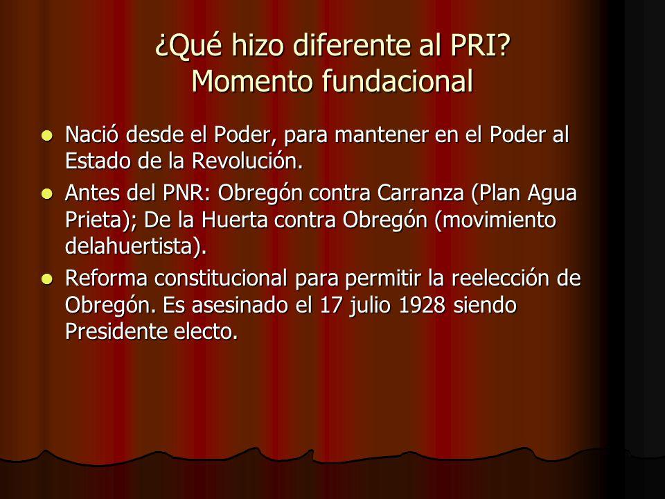 ¿Qué hizo diferente al PRI Momento fundacional
