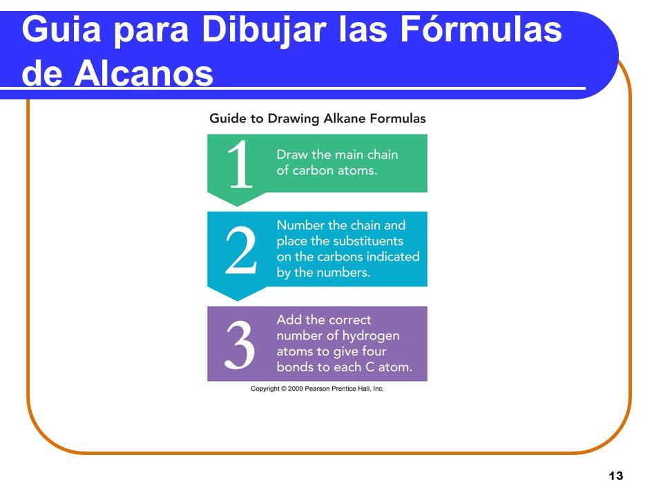 Guia para Dibujar las Fórmulas de Alcanos