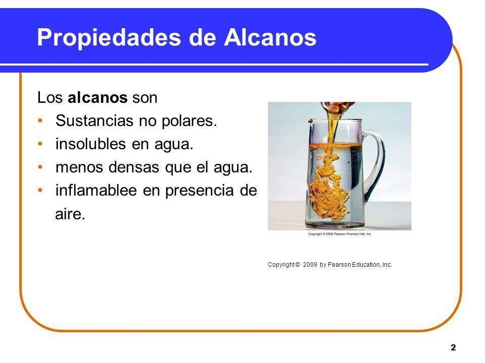 Propiedades de Alcanos