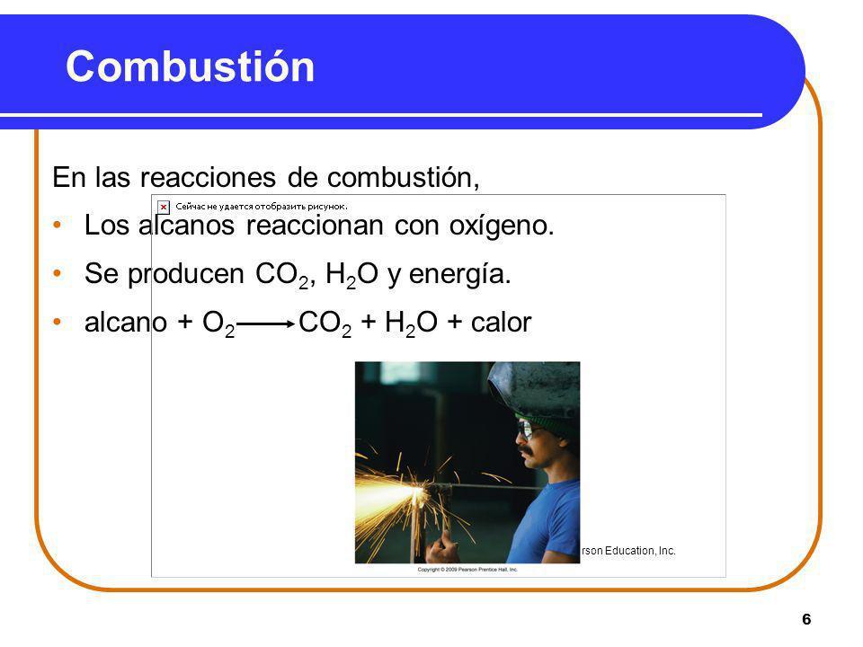 Combustión En las reacciones de combustión,