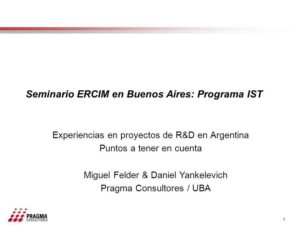 Seminario ERCIM en Buenos Aires: Programa IST
