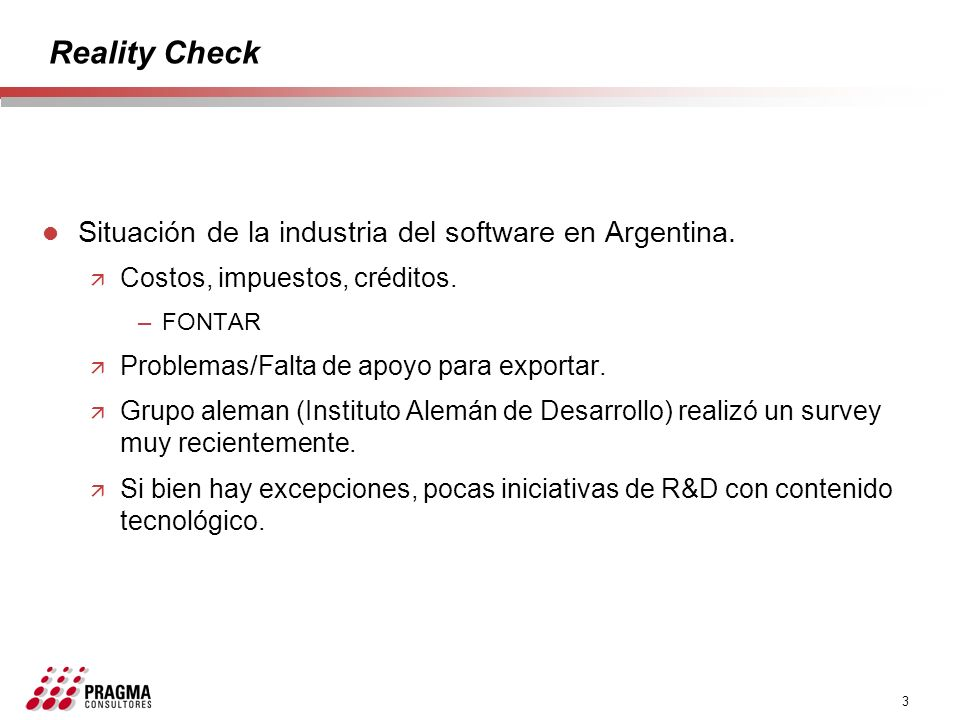 Reality Check Situación de la industria del software en Argentina.