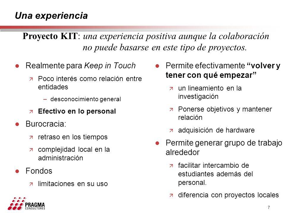 Proyecto KIT: una experiencia positiva aunque la colaboración